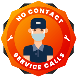 no contact service badge