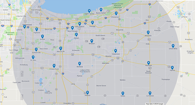 total comfort nwi services map